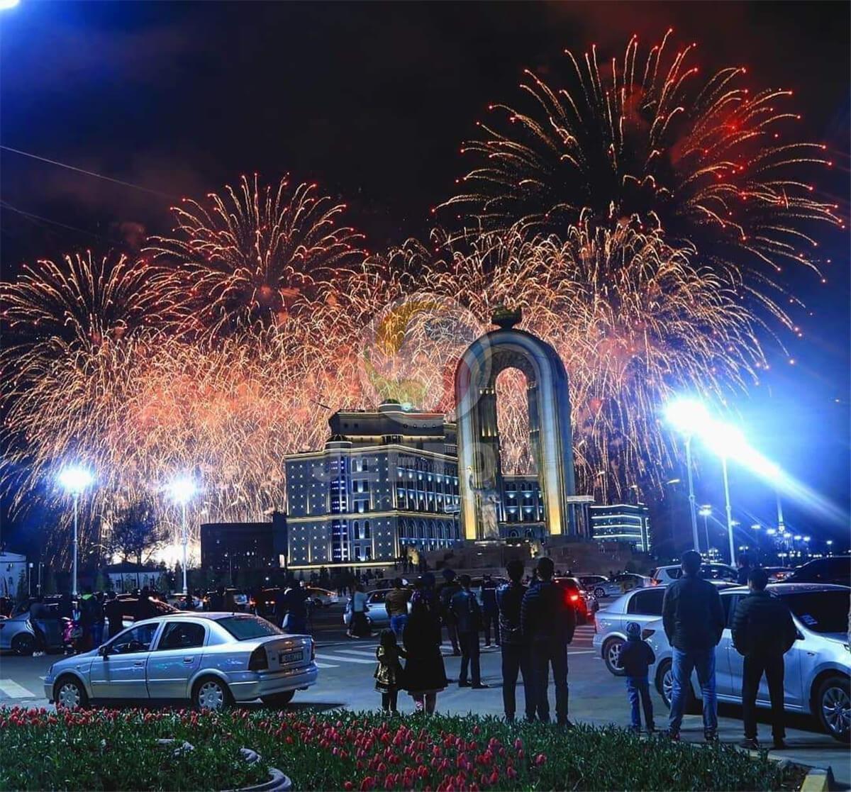 Tajikistan Nawrooz Festival Fireworks Show